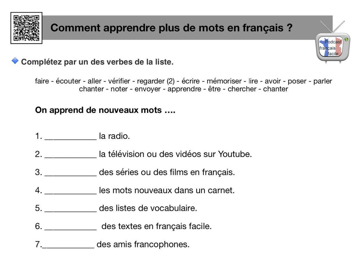 Podcast Francais Facile (@francaisfacile) | Twitter destiné Exercice Francais Facile