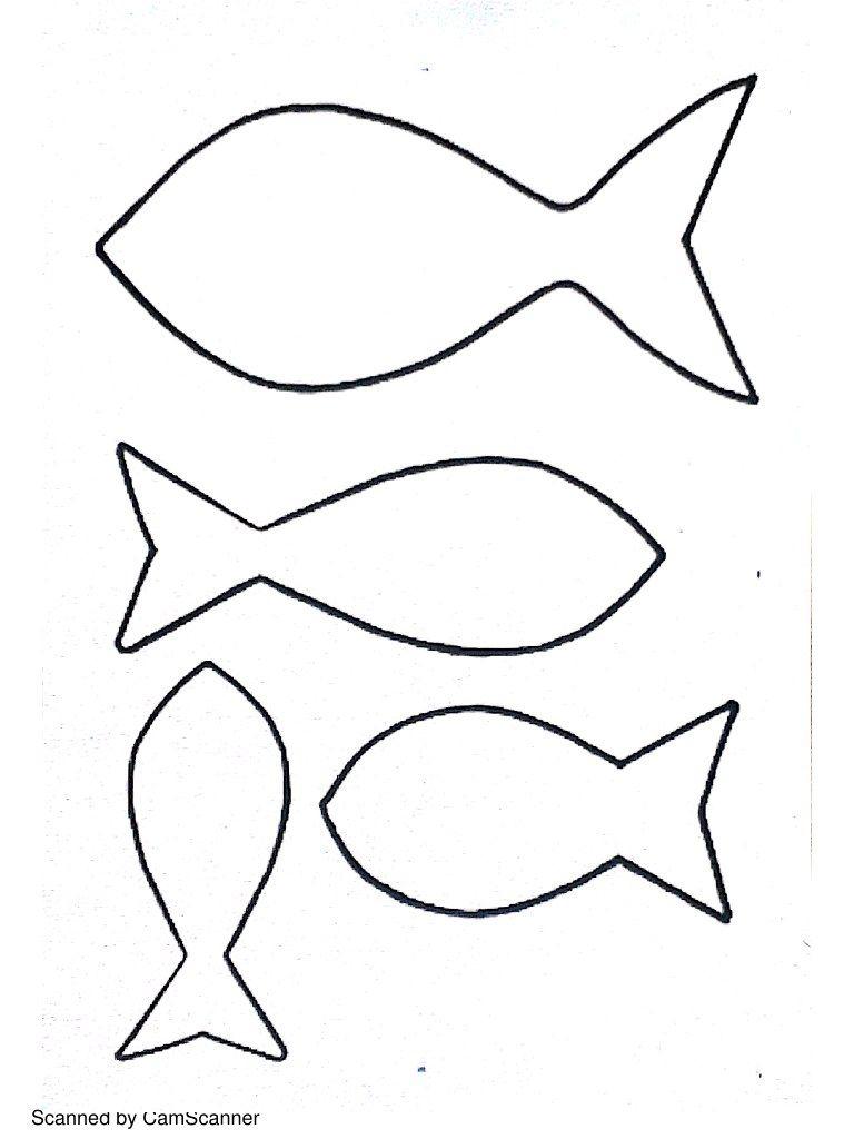 Poissons.pdf | Modèle De Poisson, Dessin Poisson, Artisanat concernant Modèle Oiseau À Découper