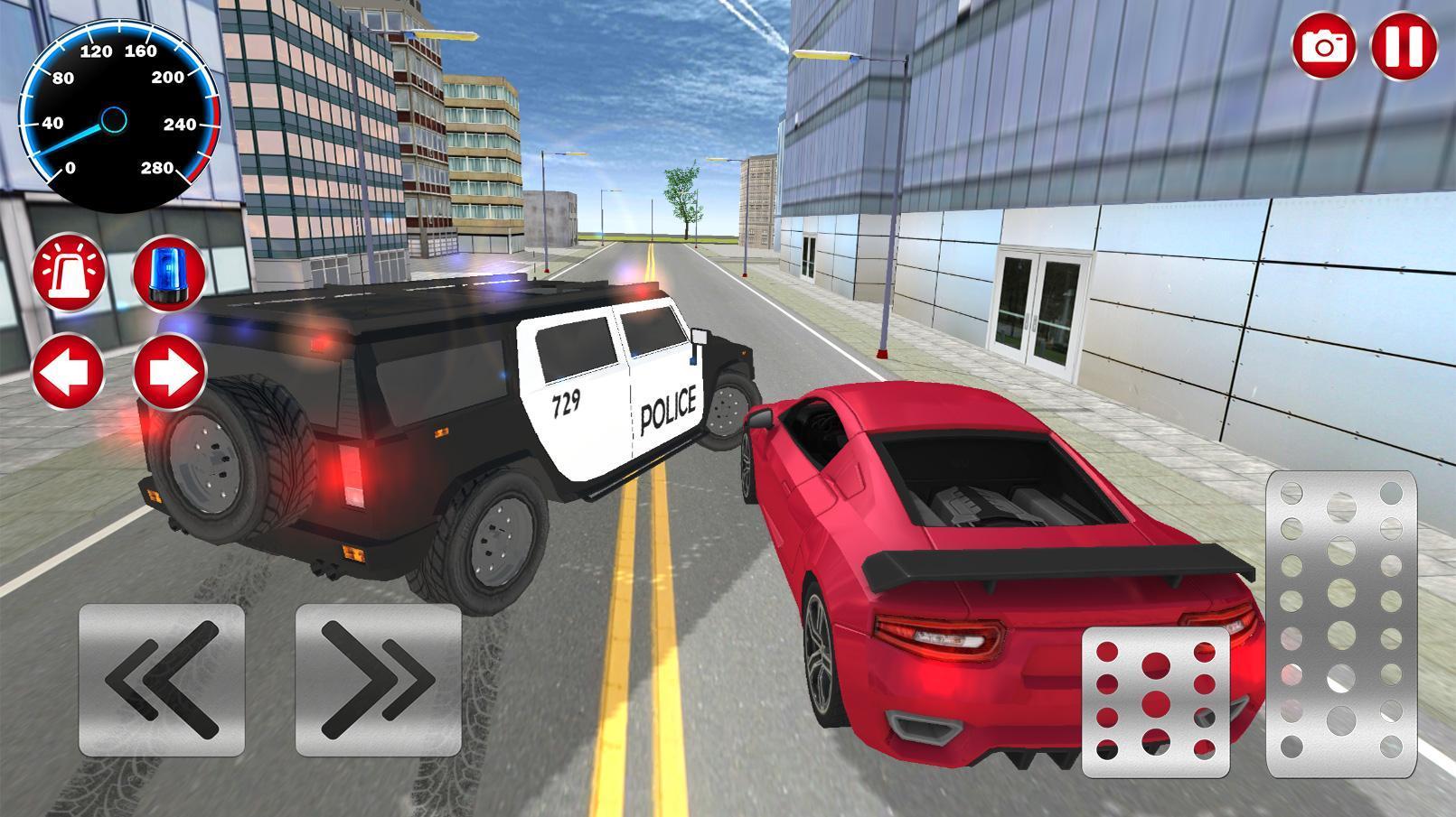 Police Et Voiture Simulateur De Jeu 3D Pour Android dedans Jeux De Voiture Avec La Police