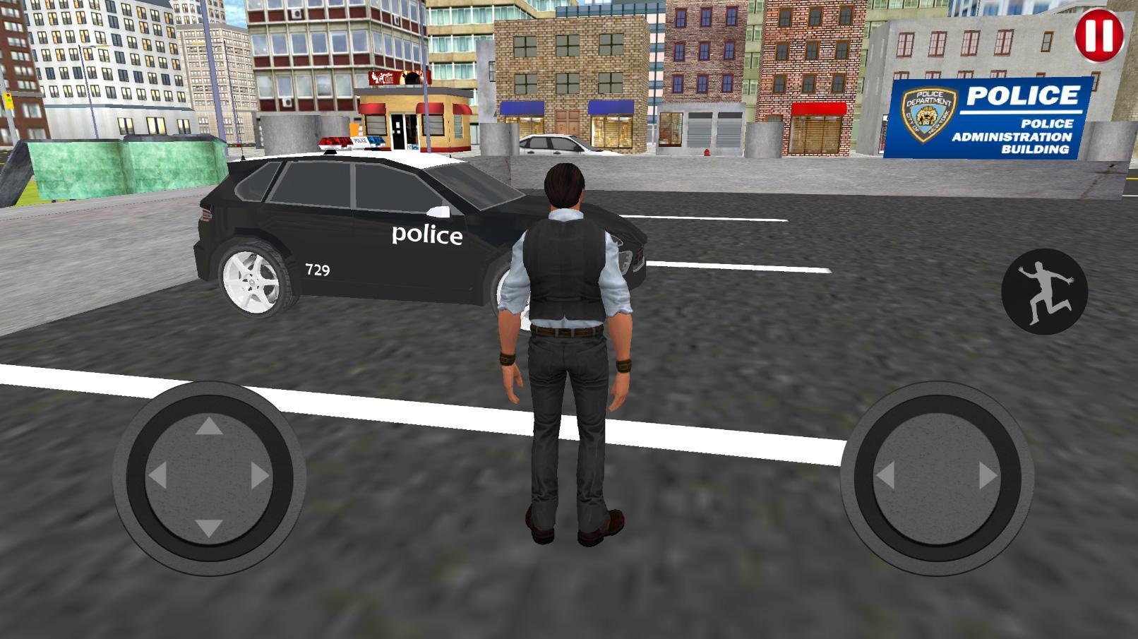 Police Et Voiture Simulateur De Jeu 3D Pour Android pour Jeux De Voiture Avec La Police
