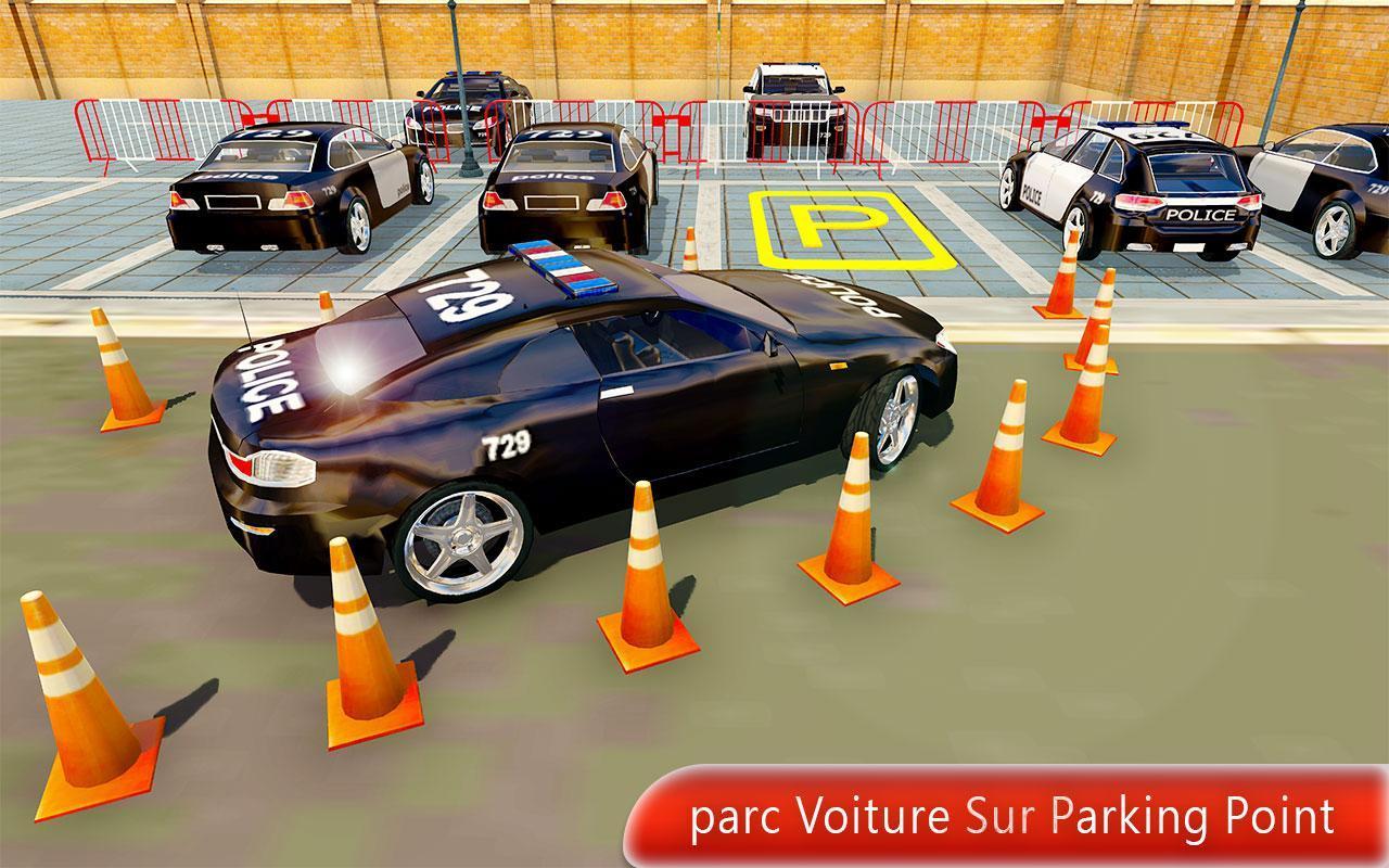 Police Voiture Parking Jeux Gratuit Pour Android dedans Jeu De Voiture De Police Gratuit