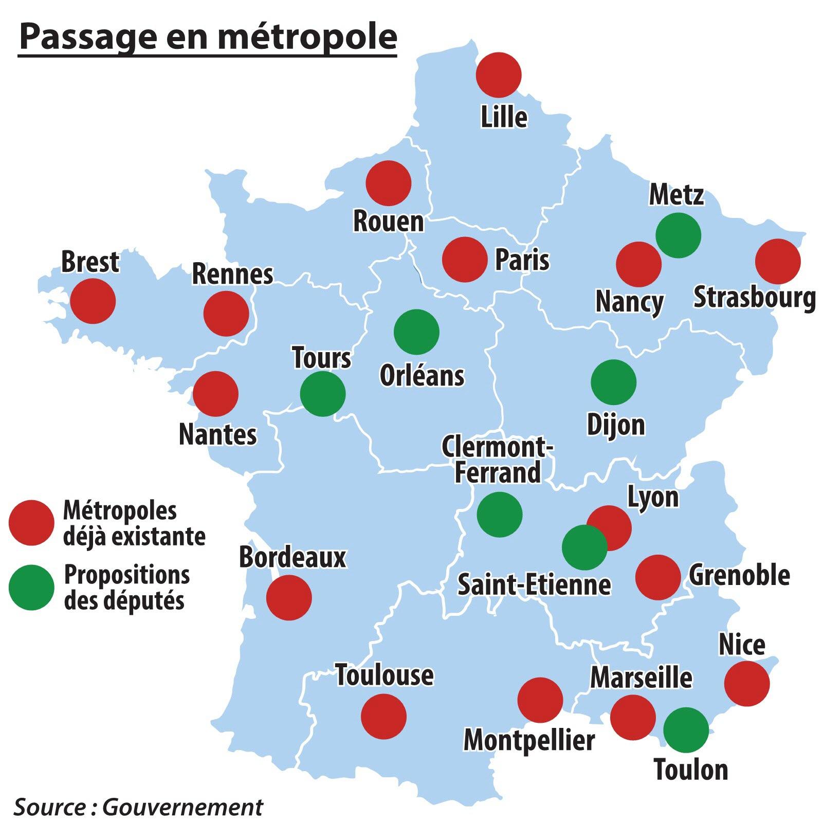 Politique | Metz Sur La Carte De France Des Grandes Villes pour Carte France Principales Villes