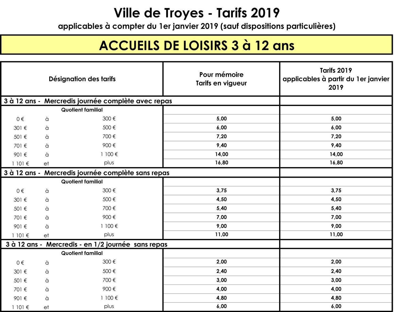 Portail Famille - Tarifs Et Règlement Accueil De Loisirs serapportantà Activités Éducatives Pour Les 0 2 Ans