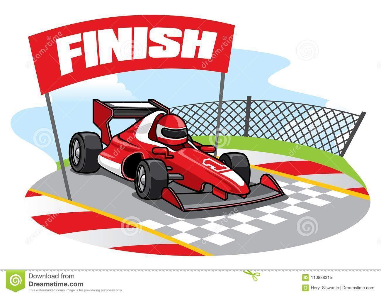 Portée De Voiture De Course De Formule La Ligne D'arrivée intérieur Course Voiture En Ligne