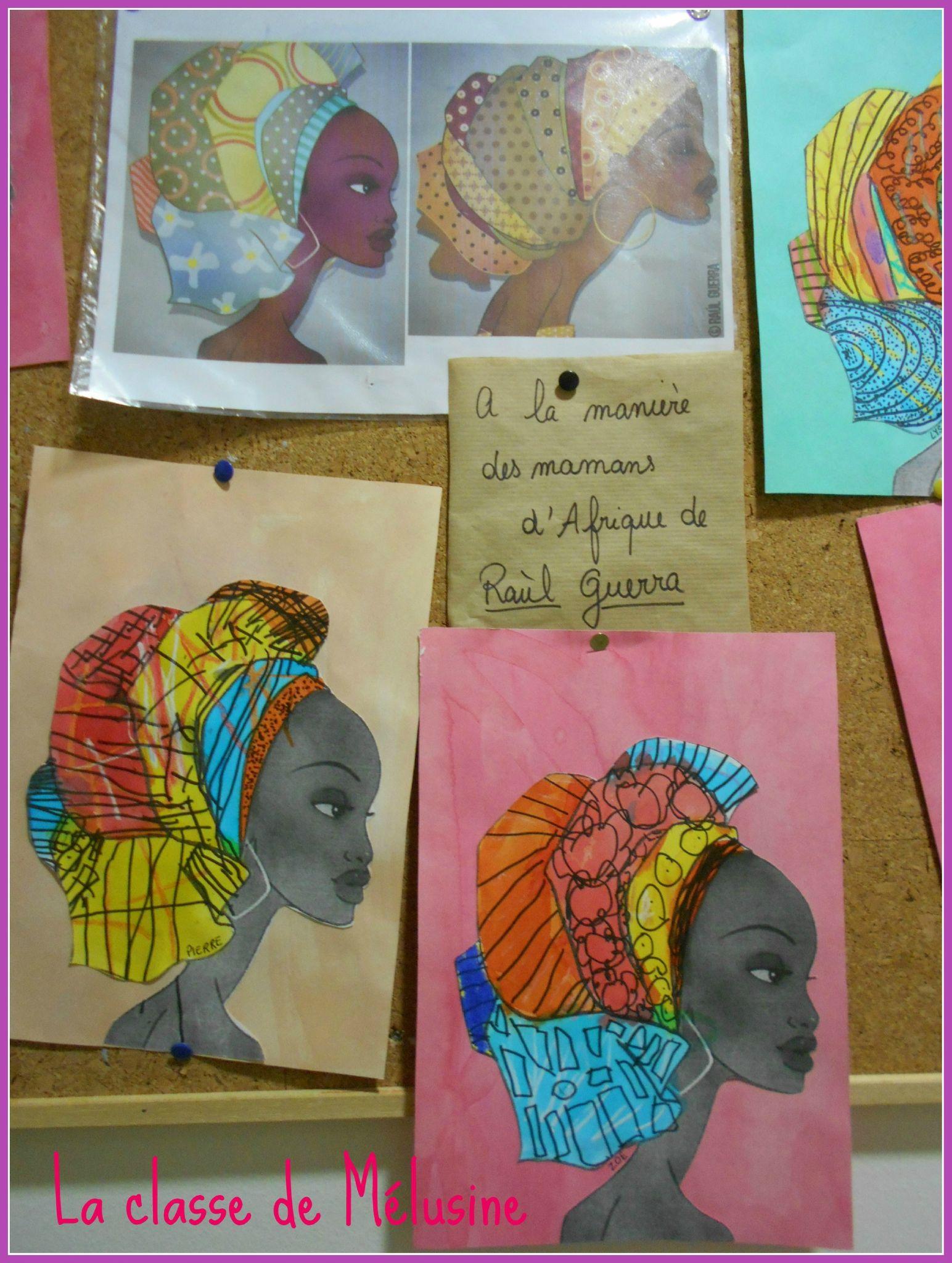 Portraits Mamans Aux Turbans Raùl | Art Africain serapportantà Activité Manuelle Afrique