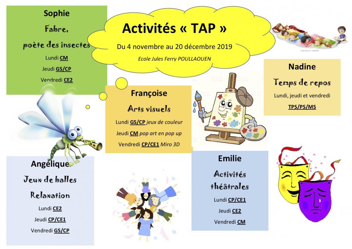 Poullaouën - Les Temps D'activités Périscolaires destiné Activité Manuelle Pour Cp