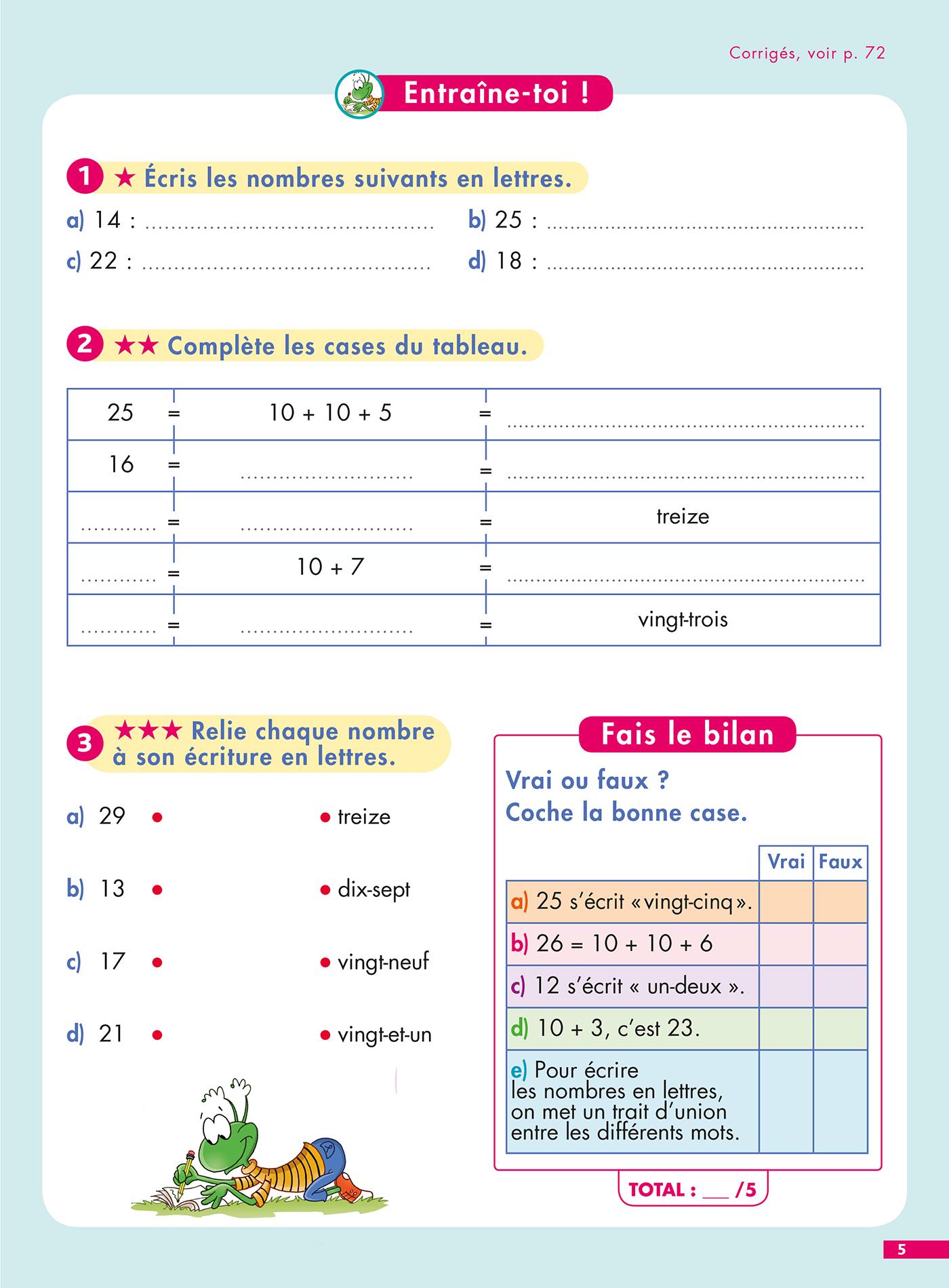 Pour Comprendre Maths Ce1-Ce2 - Spécial Dys (Dyslexie) à Exercice Gratuit Ce1