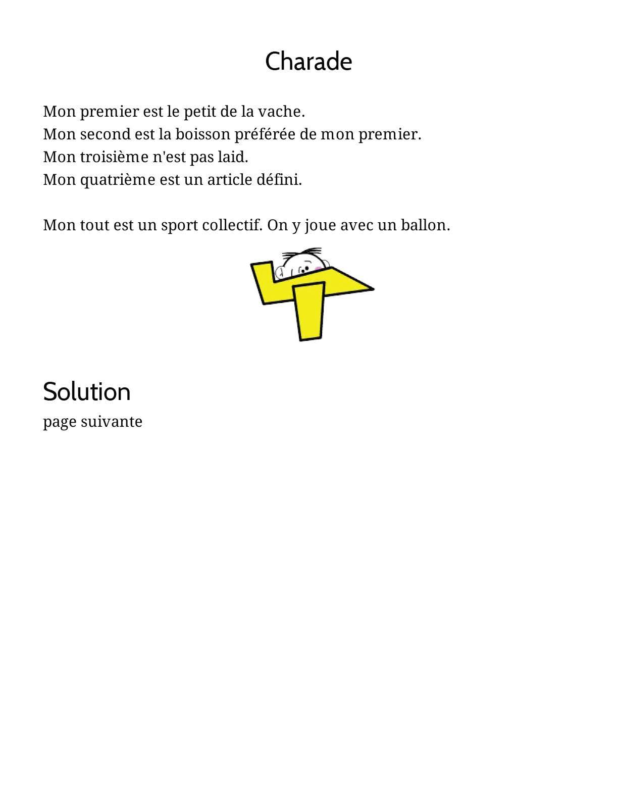 Pour Enfants 2020: Charade À Imprimer Sur Le Thème Des serapportantà Charade A Imprimer