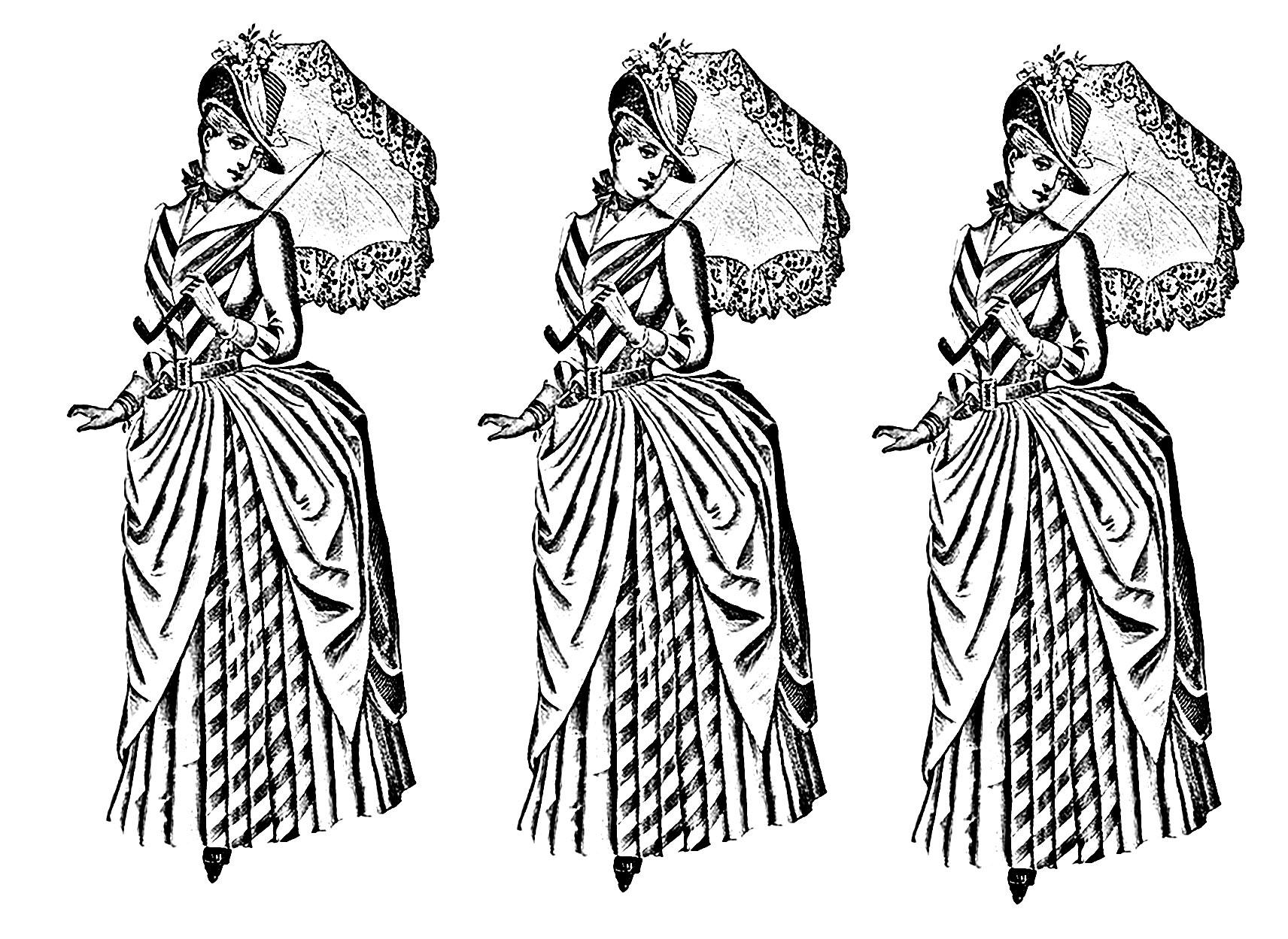Pour Mode Vetements Vintage Gratuit A Imprimer - Coloriage destiné Coloriage Mode À Imprimer