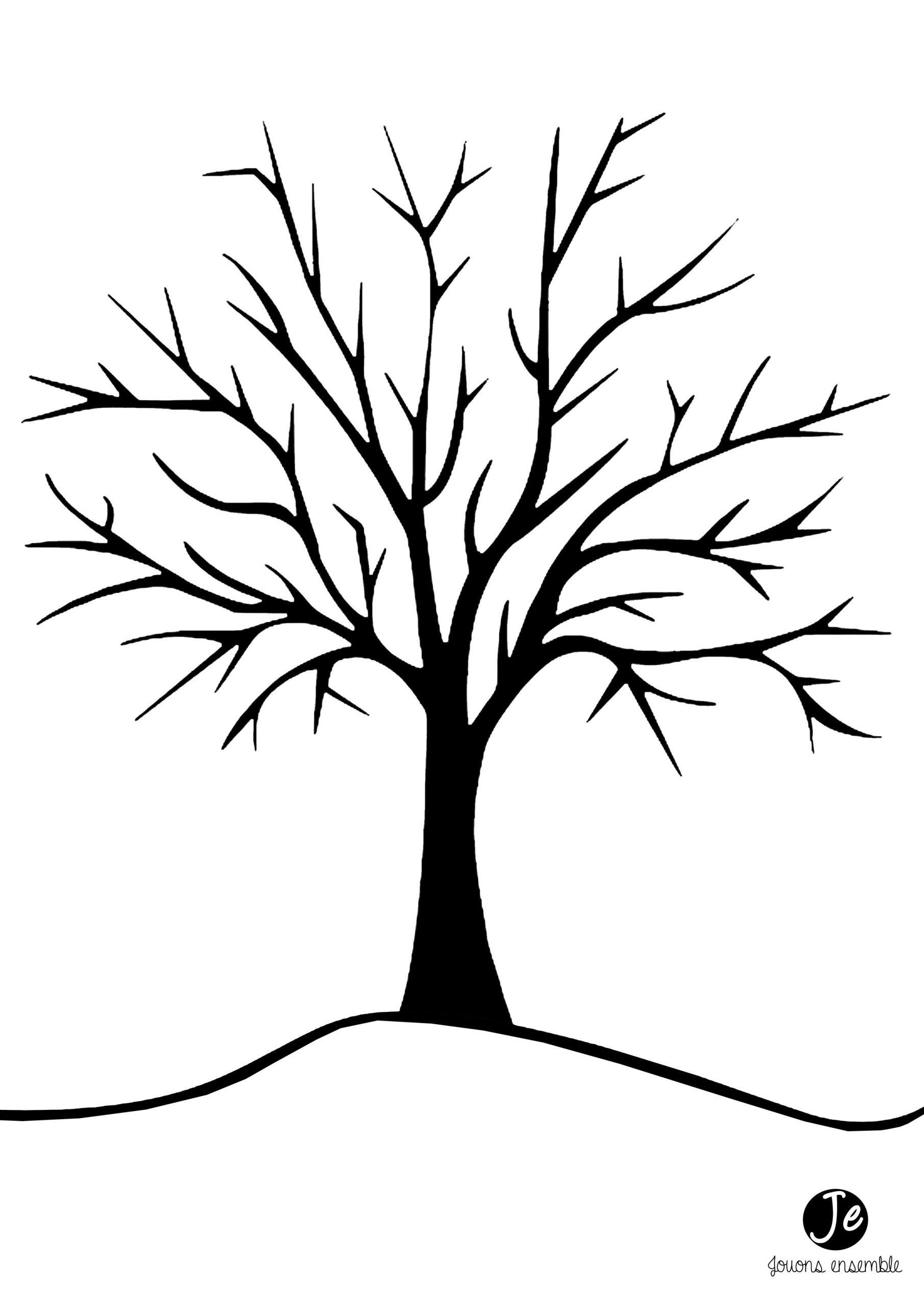 Pour Réaliser Cet Arbre D'automne En Gommettes, Il Faut pour Arbre A Colorier Et A Imprimer