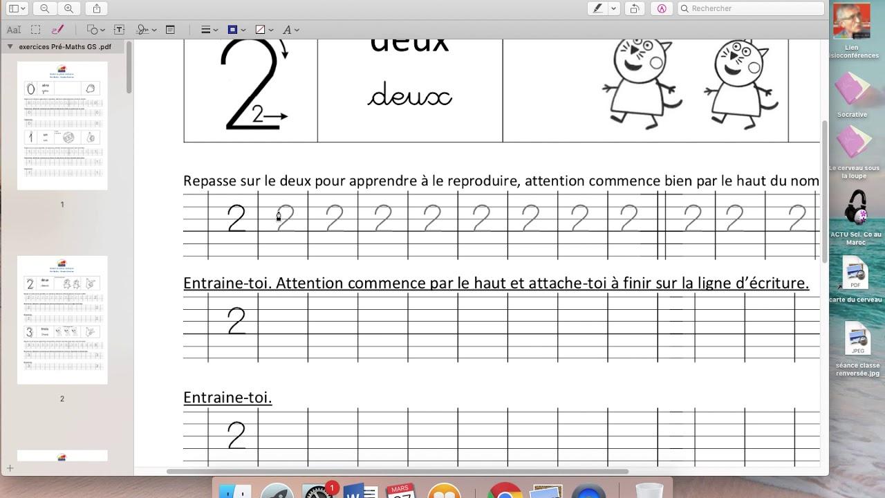 Pré Maths Gs 3 - pour Ligne Écriture Gs
