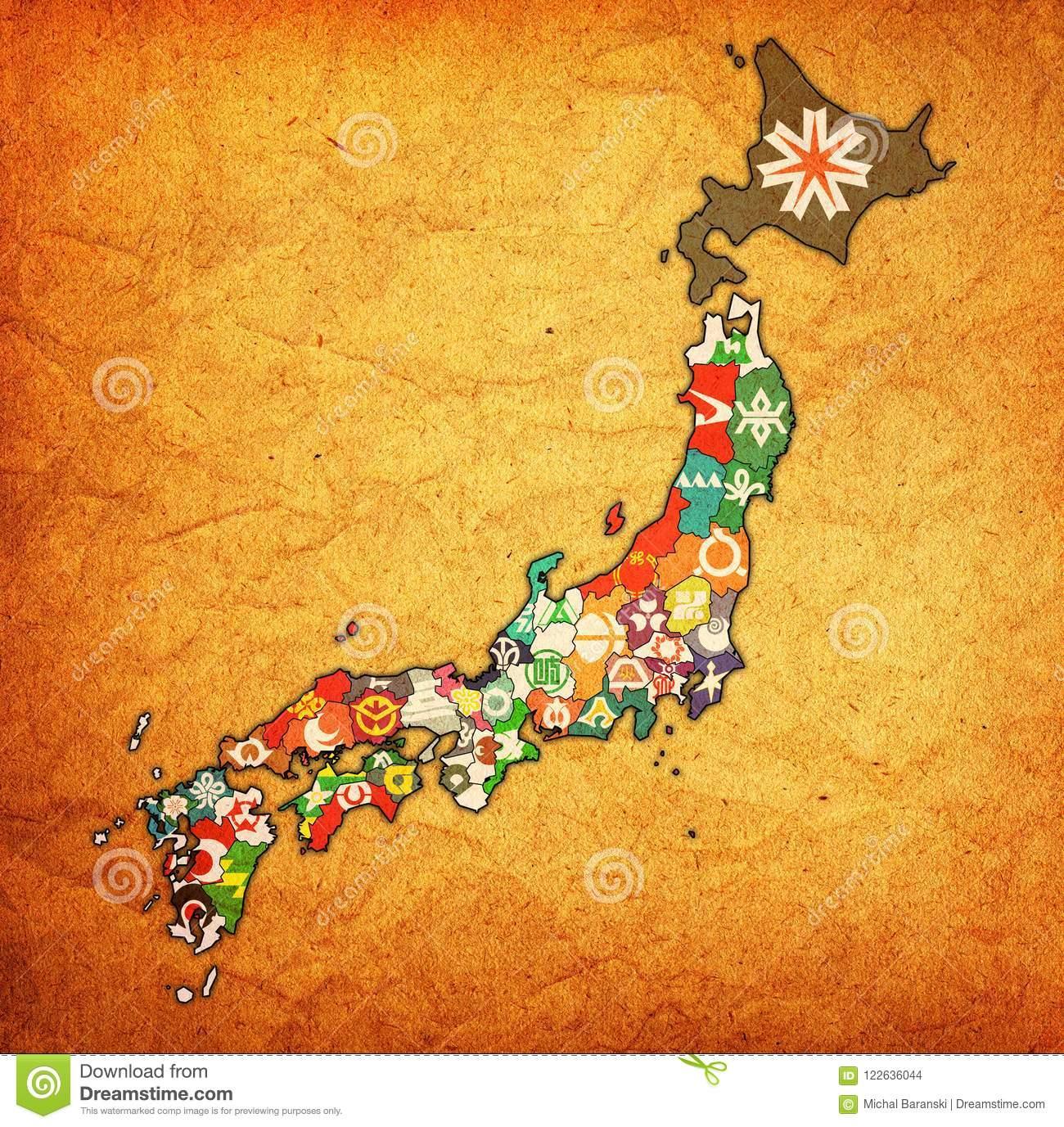Préfectures Du Japon Sur La Carte D'administration avec Carte Des Préfectures
