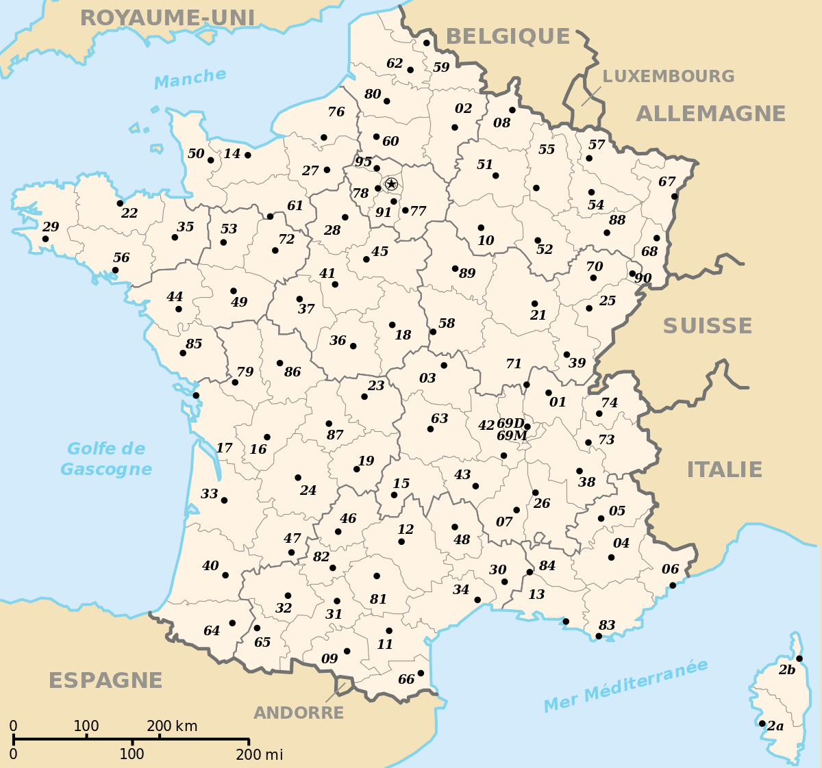 Prefectures In France - Wikipedia concernant Carte Des Préfectures
