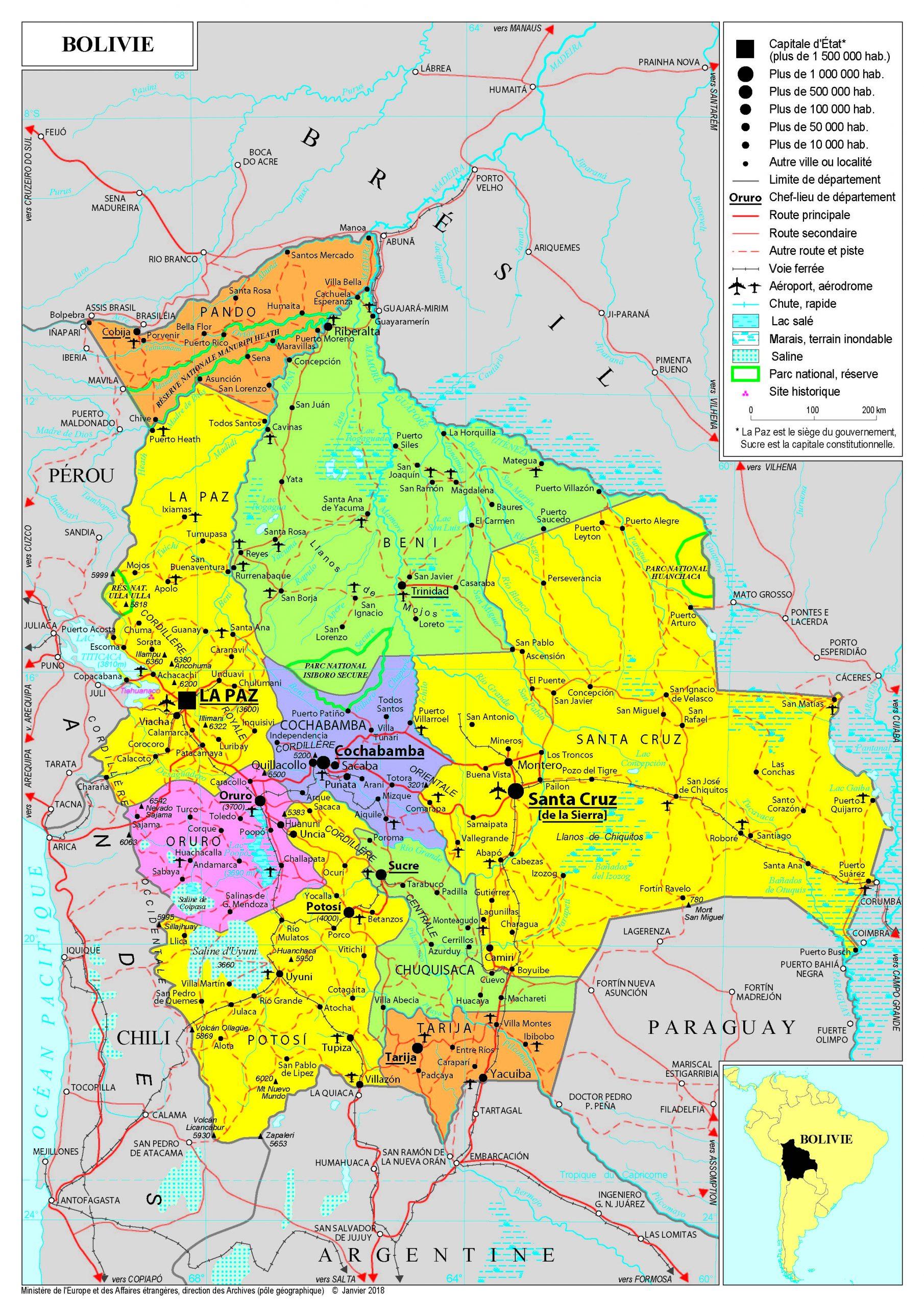 Présentation De La Bolivie - Ministère De L'europe Et Des à Pays D Europe Et Capitales