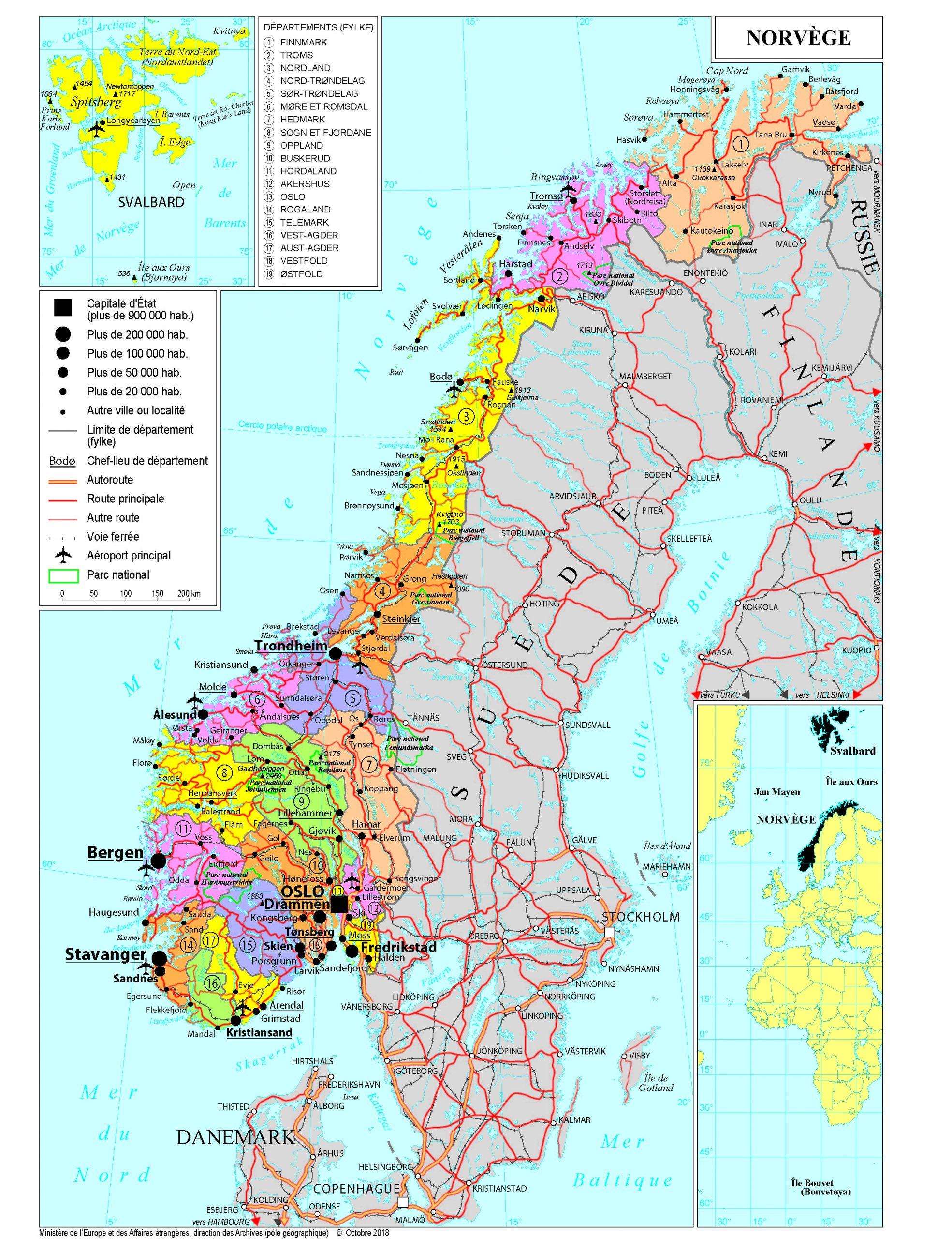 Présentation De La Norvège - Ministère De L'europe Et Des serapportantà Tout Les Pays De L Union Européenne Et Leur Capital