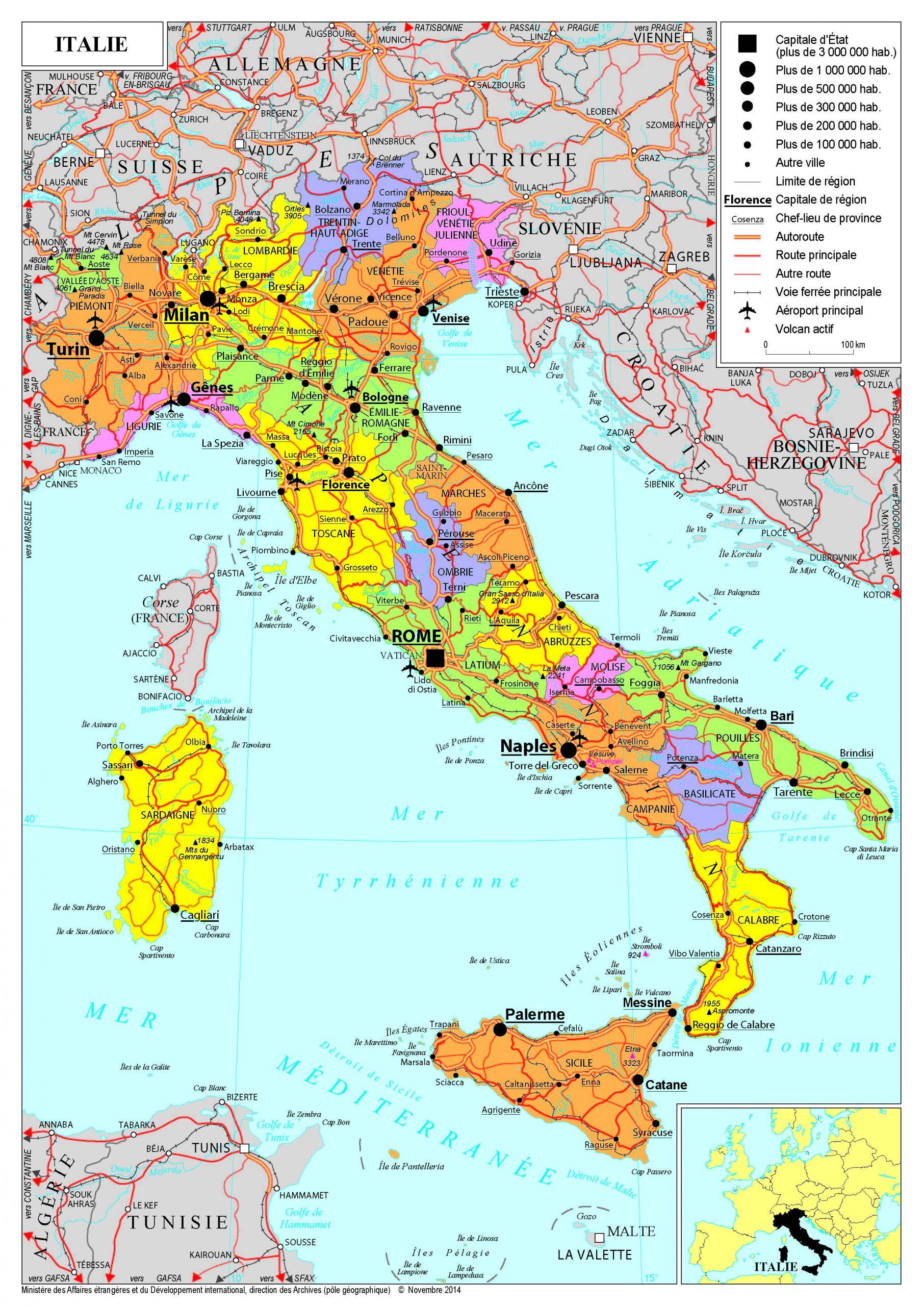Présentation De L'italie - Ministère De L'europe Et Des encequiconcerne Tout Les Pays De L Union Européenne Et Leur Capital