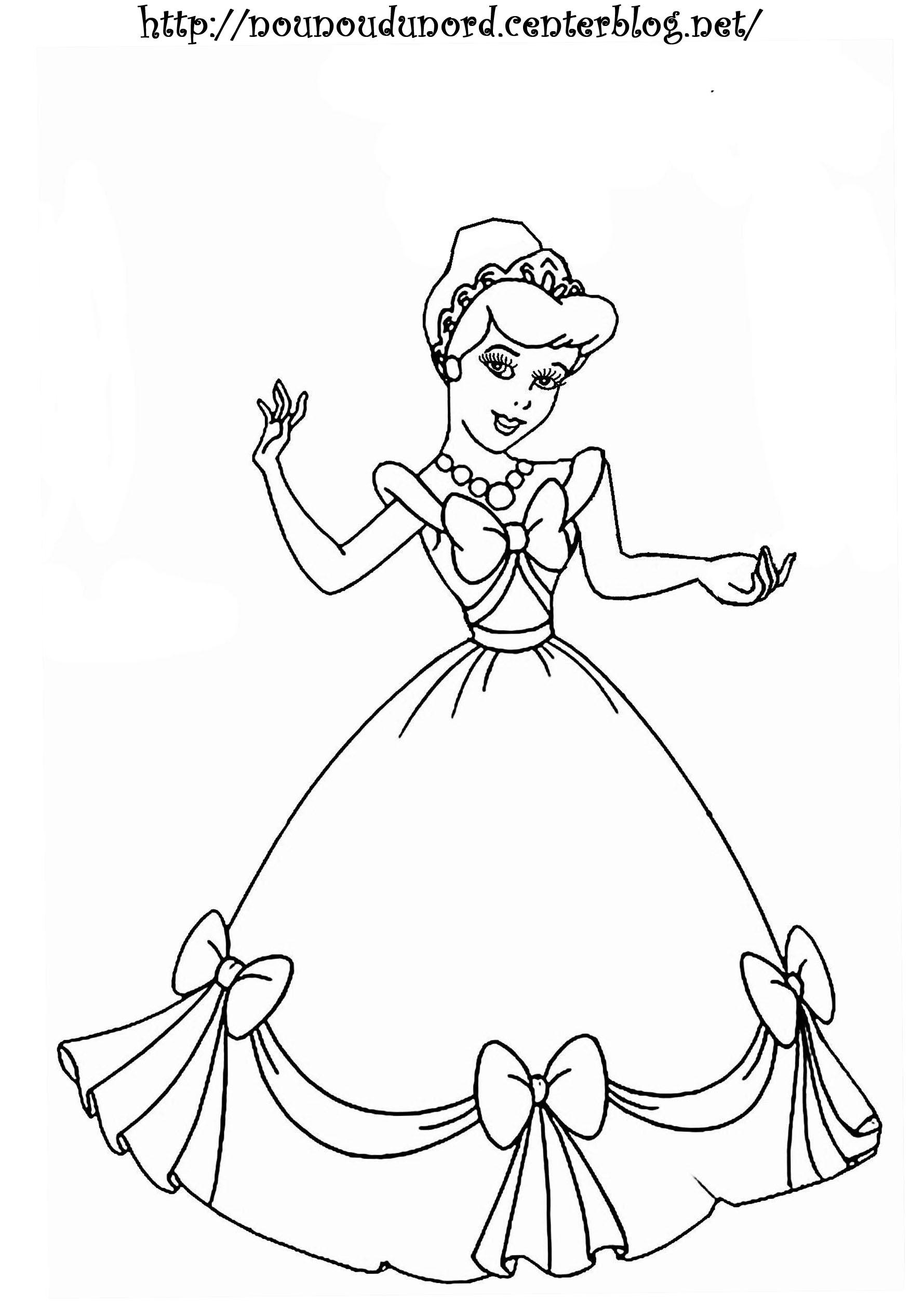 Princesse #19 (Personnages) – Coloriages À Imprimer à Princesse À Colorier Gratuit