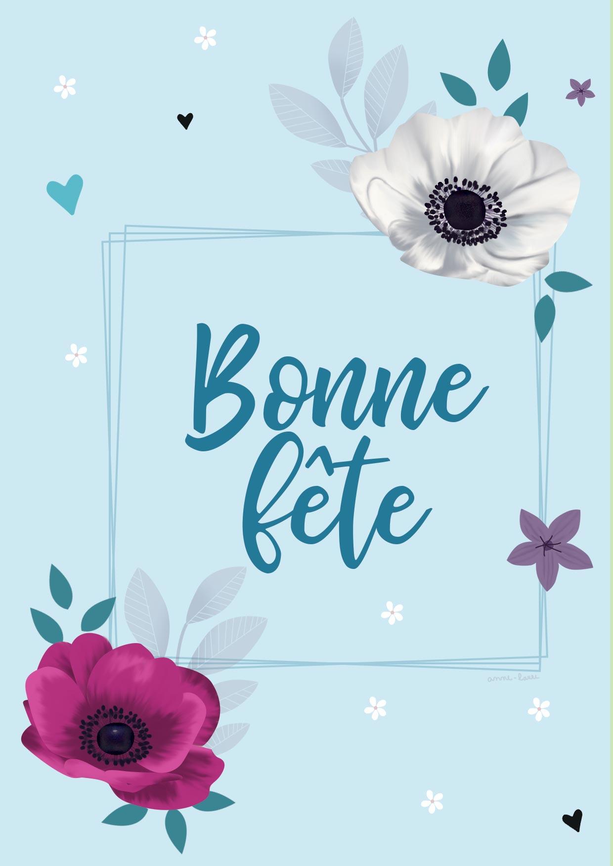 Printable] Deux Cartes À Imprimer Pour La Fête Des Grands destiné Carte Bonne Fete Maman A Imprimer