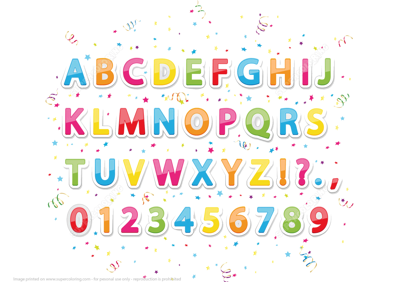 Printable Stickers Of English Alphabet Letters And Numbers intérieur Coloriage Alphabet Complet A Imprimer