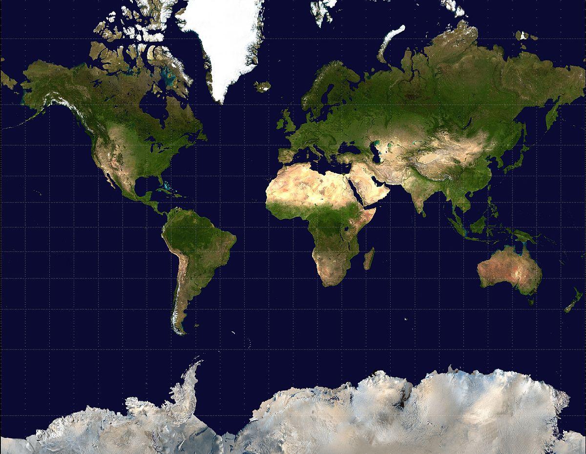 Projection De Mercator — Wikipédia pour Carte Du Monde À Compléter En Ligne
