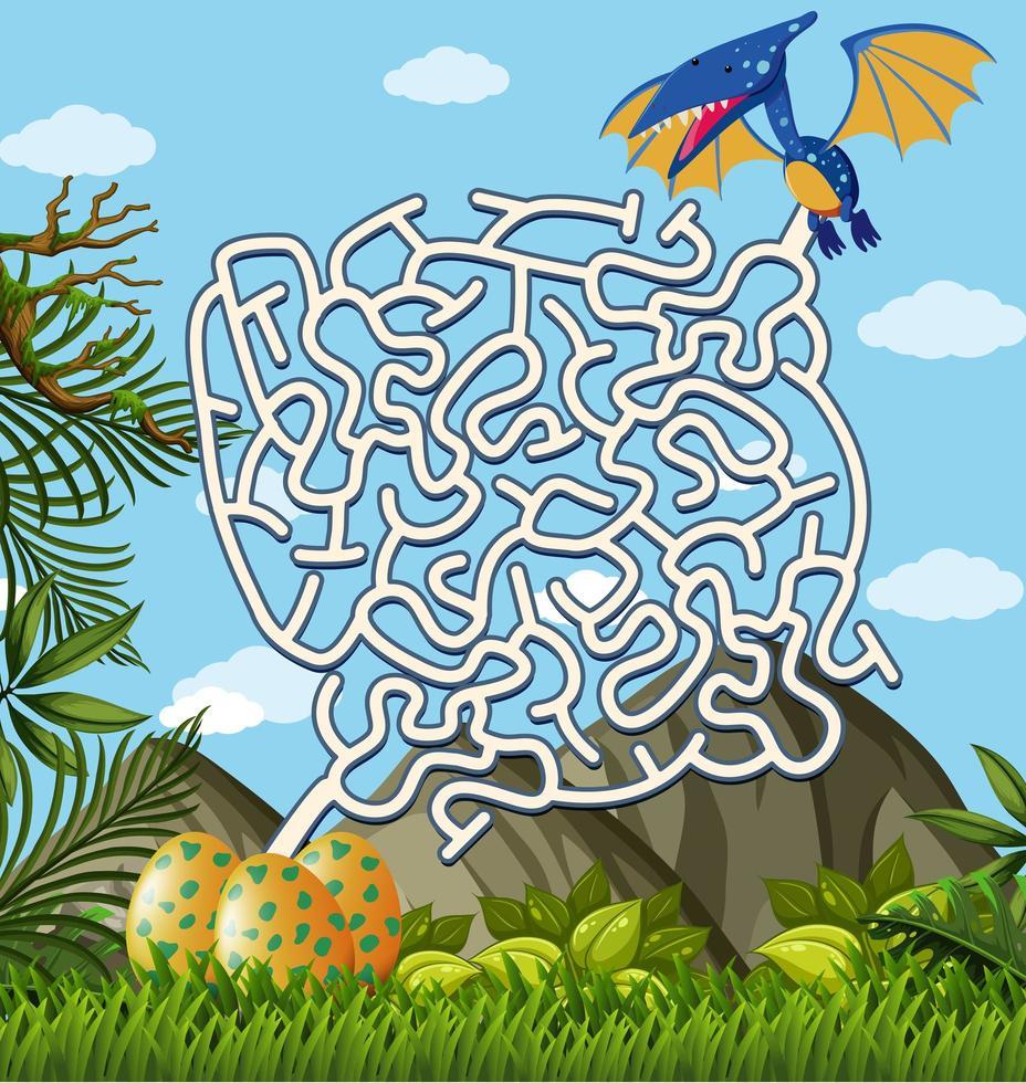 Pterosaurs Finding Eggs Labyrinthe Jeu De Puzzle encequiconcerne Jeu De Puzzl Gratuit
