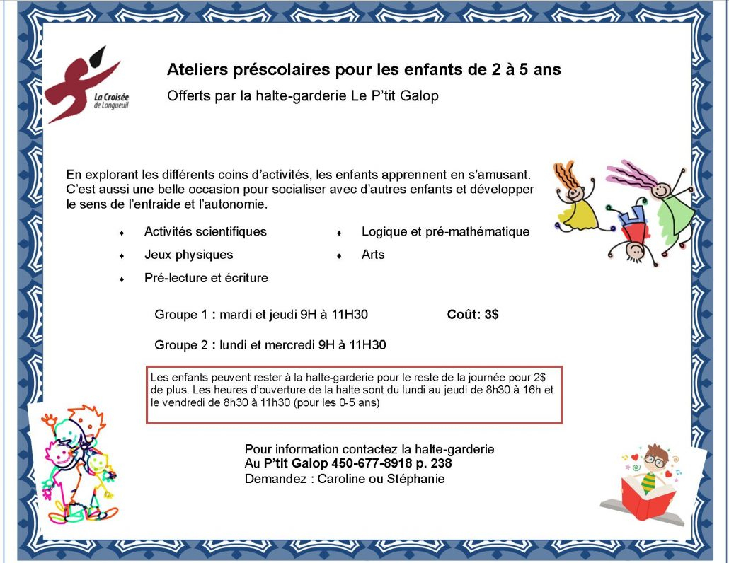 P'tit Galop – La Croisée De Longueuil à Activités Éducatives Pour Les 0 2 Ans