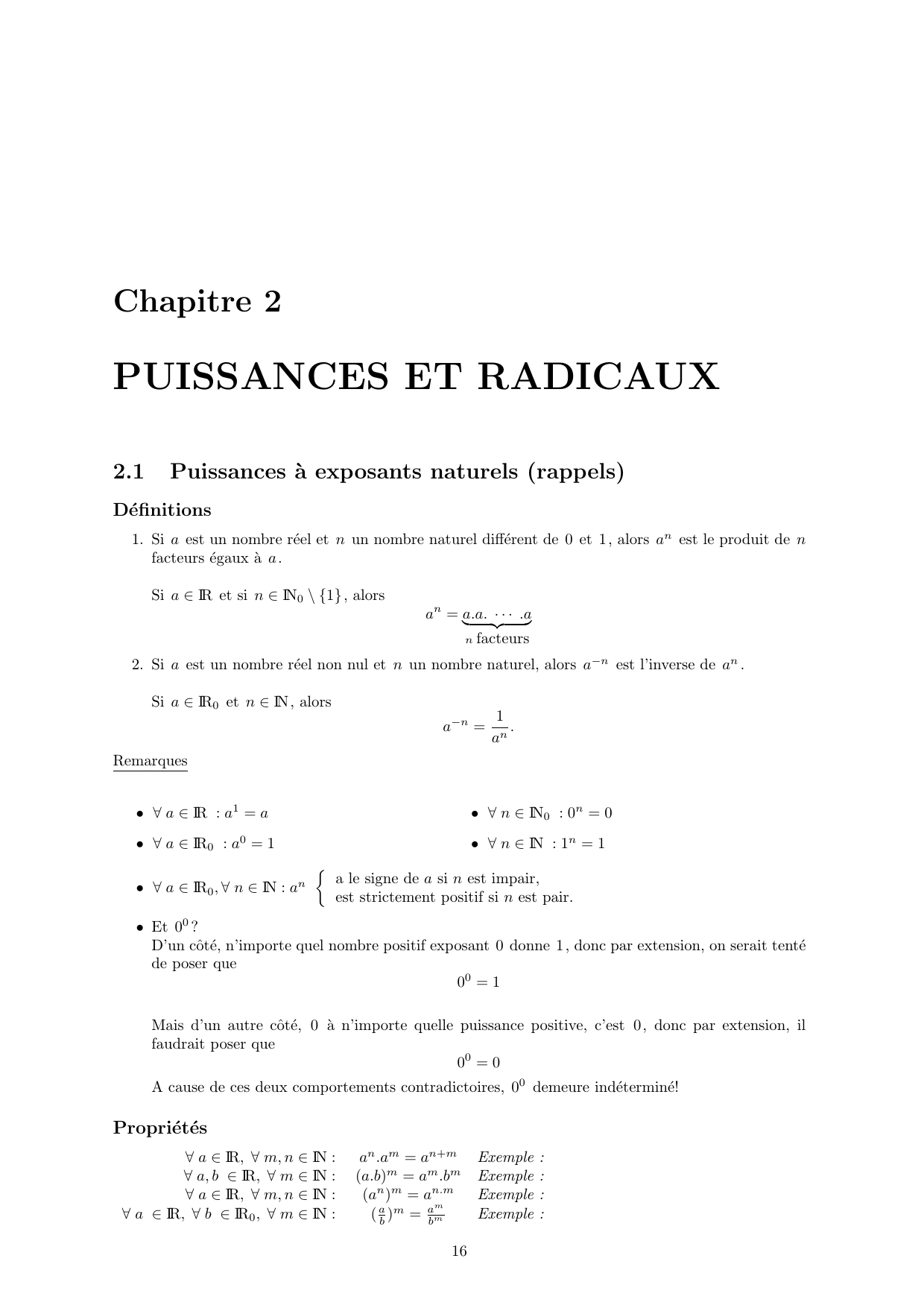 Puissances Et Radicaux destiné Exercice De Math Sur Les Puissances