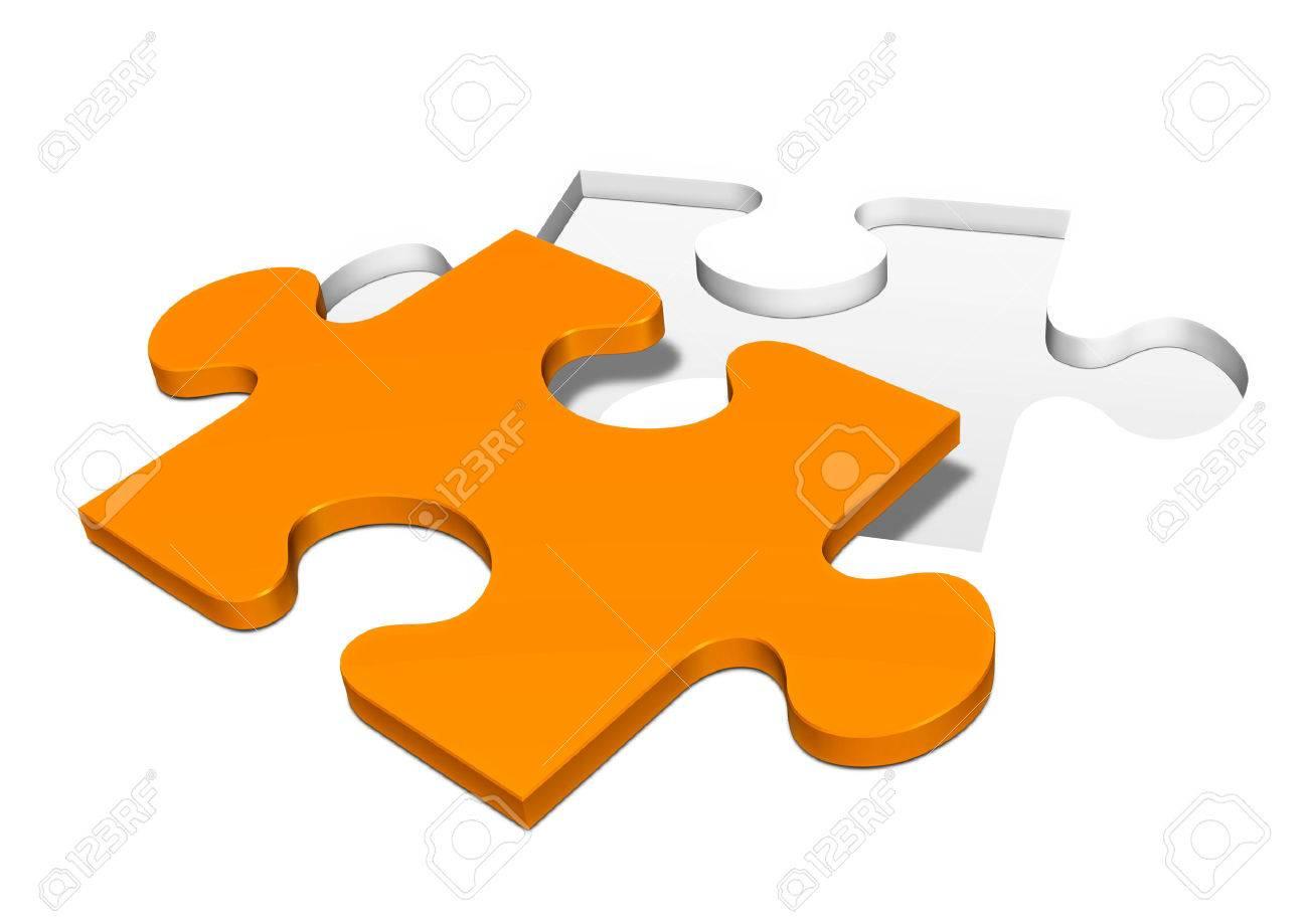 Punched Out Simple Orange Colored Et Isolé Pièce De Puzzle À Partir D'un  Fond Blanc - Puzzle destiné Puzzle À Partir De Photo