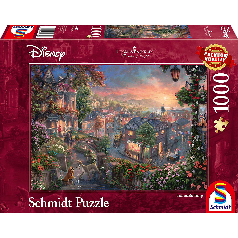 Puzzle 1000 Pièces : La Belle Et Le Clochard, Disney avec Puzzles Adultes Gratuits