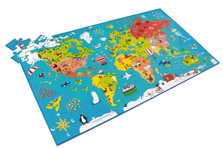 Puzzle 150 Pièces Carte Du Monde avec Jeux De Carte Geographique Du Monde