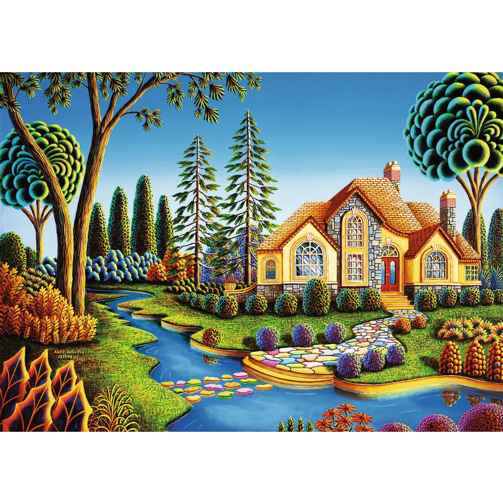 Puzzle 300 Pièces : Cottage Dream à Puzzles Gratuits Pour Tous