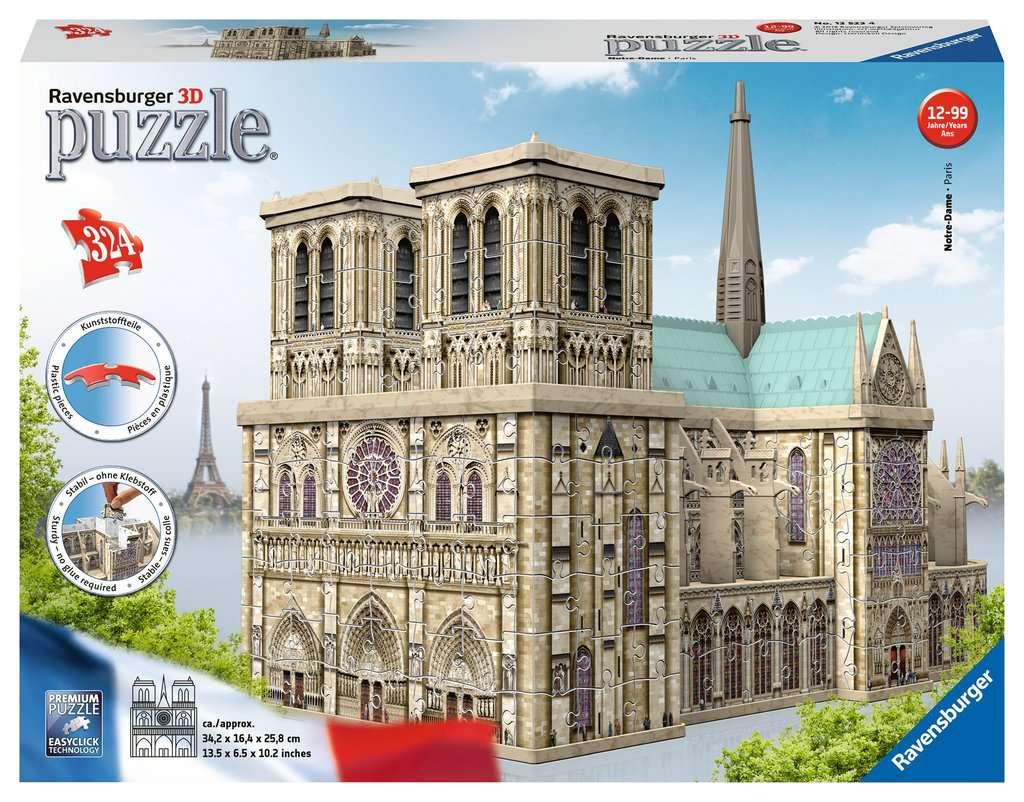 Puzzle 3D Notre-Dame De Paris serapportantà Puzzles Adultes Gratuits