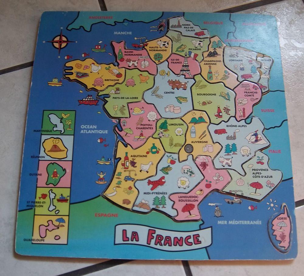 Puzzle Bois Région Et Département De France concernant Puzzle Departement