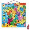 Puzzle Carte De France Magnétique - 93 Pièces | Carte De intérieur Apprendre Carte De France