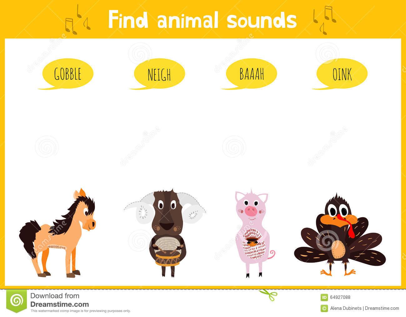 Puzzle Coloré D'éducation De Jeu De Bande Dessinée D'enfants avec Bruit Des Animaux De La Ferme