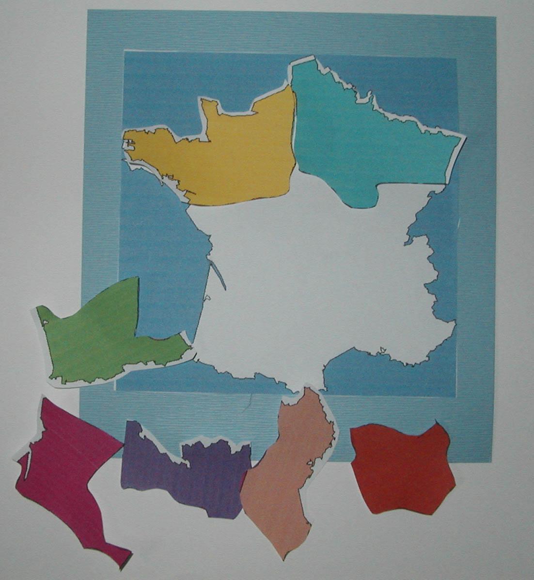 Puzzle Des Régions De France - Tête À Modeler dedans Les Régions De France Jeux