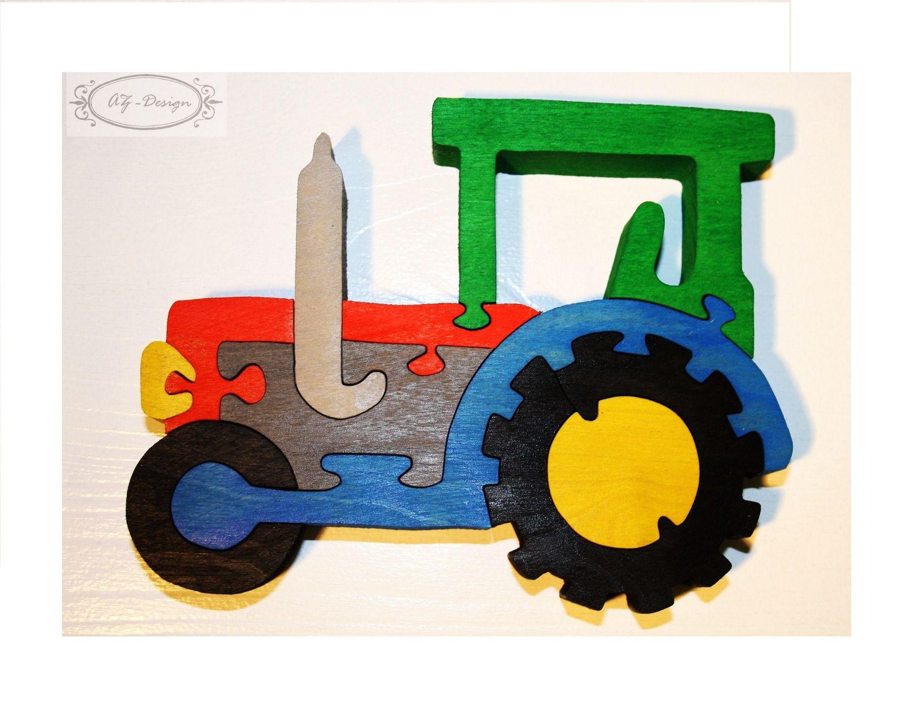 Puzzle En Bois, Tracteur, Voiture, Ferme, Village, Jouet avec Jeux Gratuit Tracteur A La Ferme
