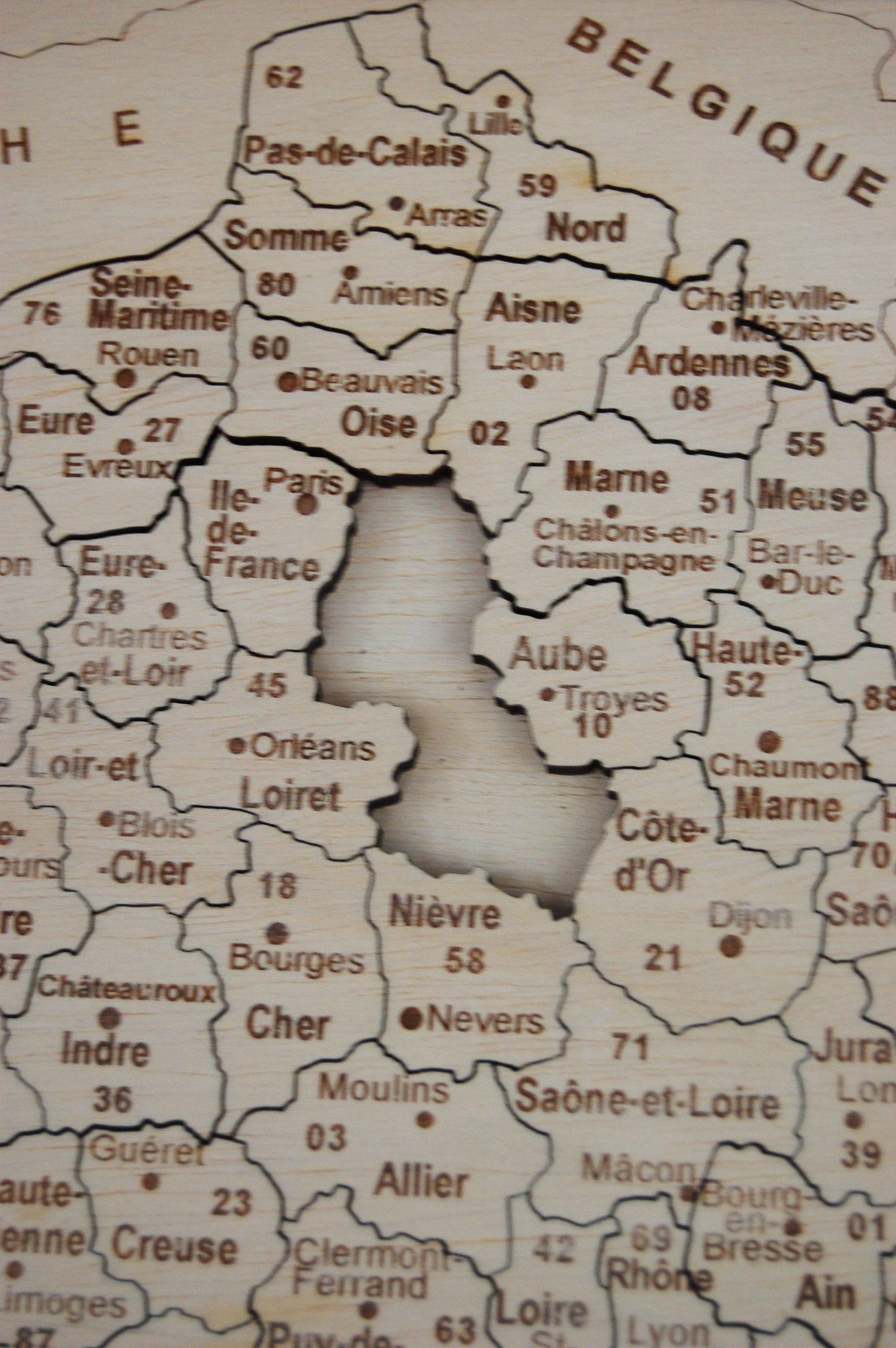 Puzzle France Js tout Puzzle Departement