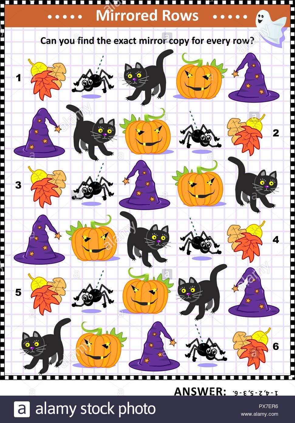Puzzle Halloween : Faire Correspondre Les Paires - Trouver L concernant Puzzle A Faire En Ligne
