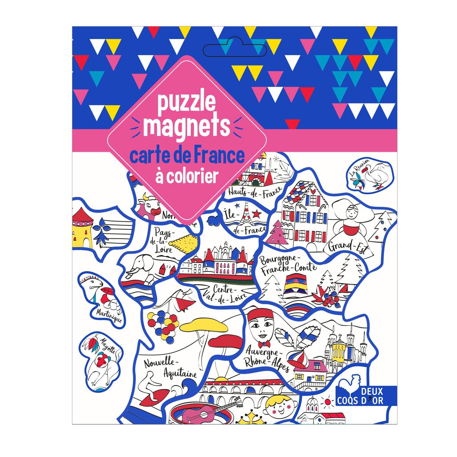 Puzzle Magnets Carte France À Colorier destiné Coloriage Carte De France