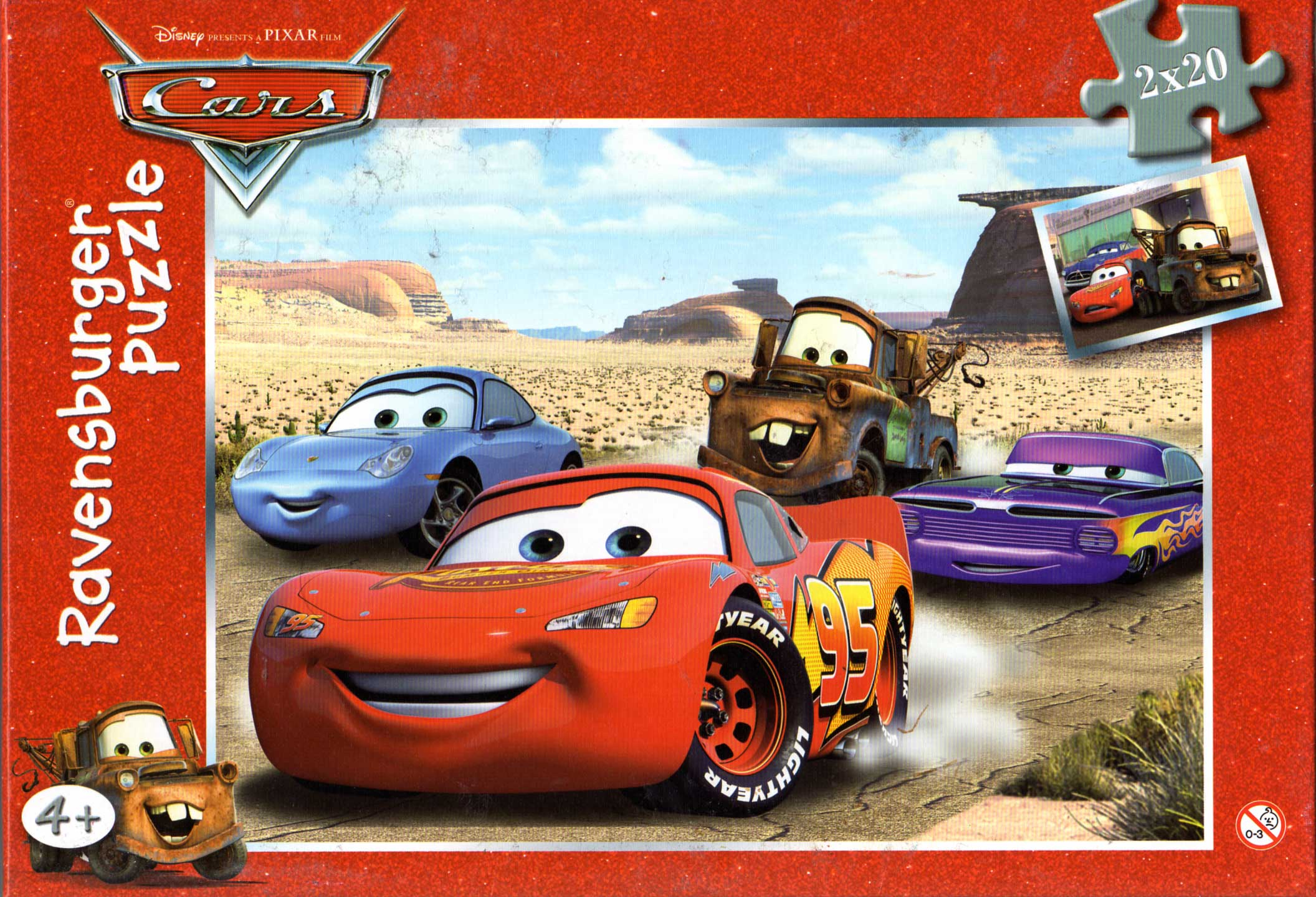Puzzle Ravensburger De 2×20 Pièces (Cars – 2006) | Otakia dedans Puzzle Fille 3 Ans