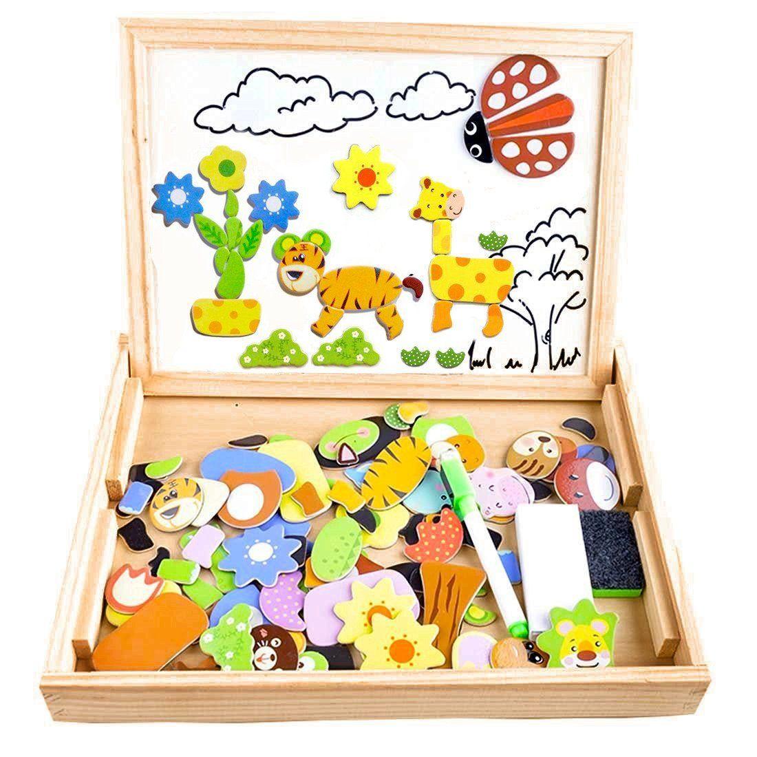 Puzzles Enfant En Bois Magnétique, Cooljoy Jigsaw Avec à Puzzle Fille 3 Ans
