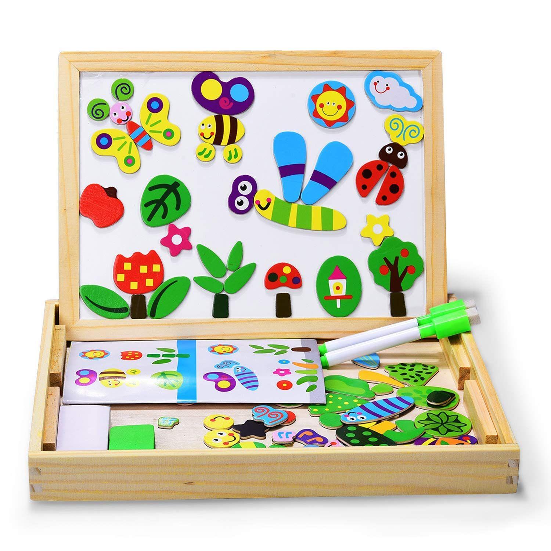 Puzzles Enfant En Bois Magnétique, Dookey Jigsaw Avec tout Puzzle Fille 3 Ans