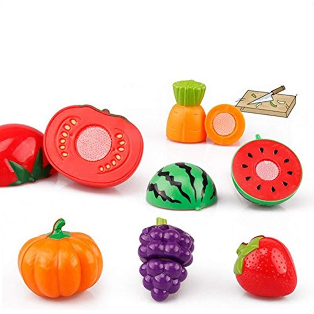 Qinlee 24Pcs Eu D'imitation Coupe Fruits Légumes Jeu Enfants dedans Jeux De Fruit Et Legume Coupé