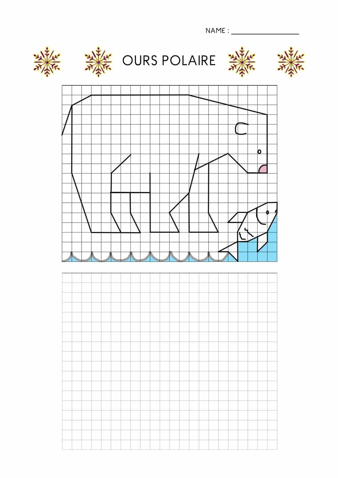 Quadrillages D'hiver (Dessin Et Géométrie) destiné Dessin Géométrique Ce2