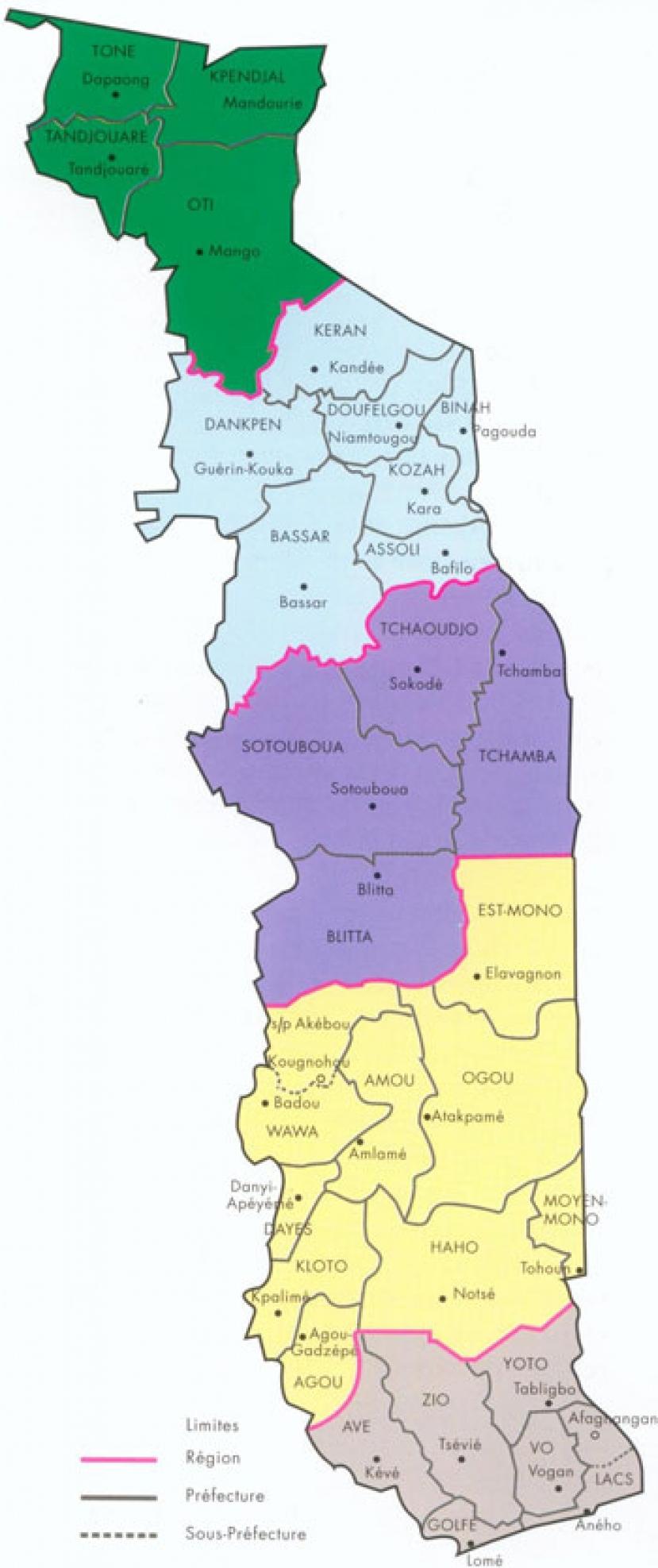 Quatre Nouvelles Préfectures Au Togo. | Ministère De L encequiconcerne Carte Des Préfectures