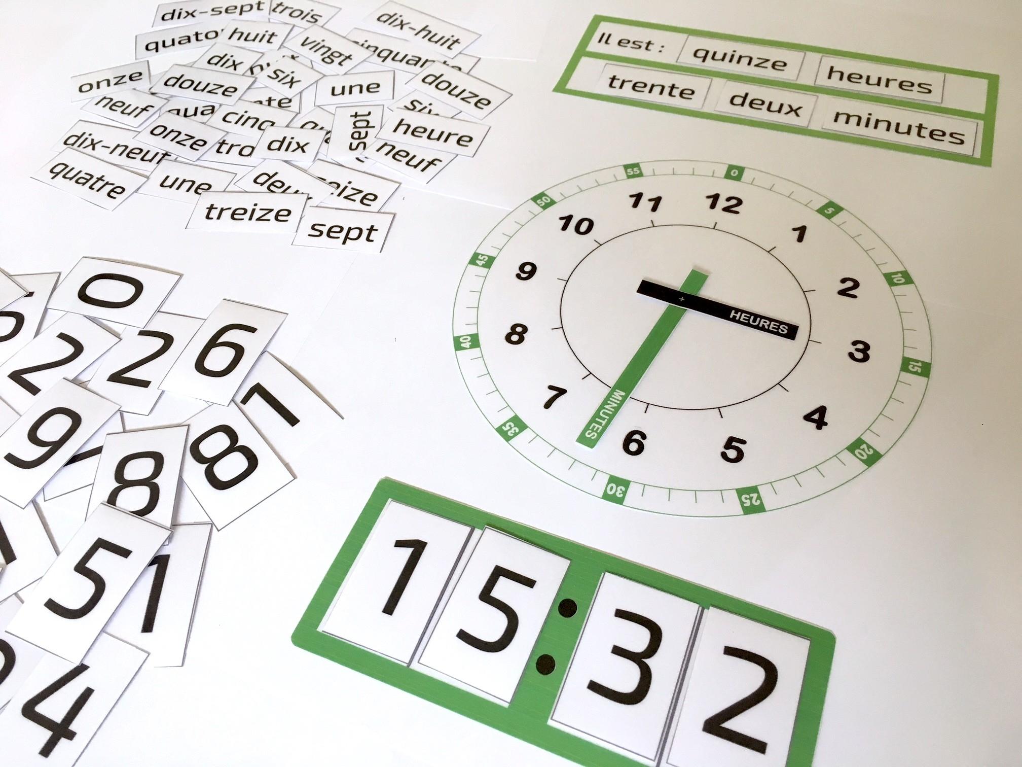 Quelle Heure Est-Il ? Un Super Printable Pour Apprendre À serapportantà Jeux Pour Apprendre À Lire 4 Ans