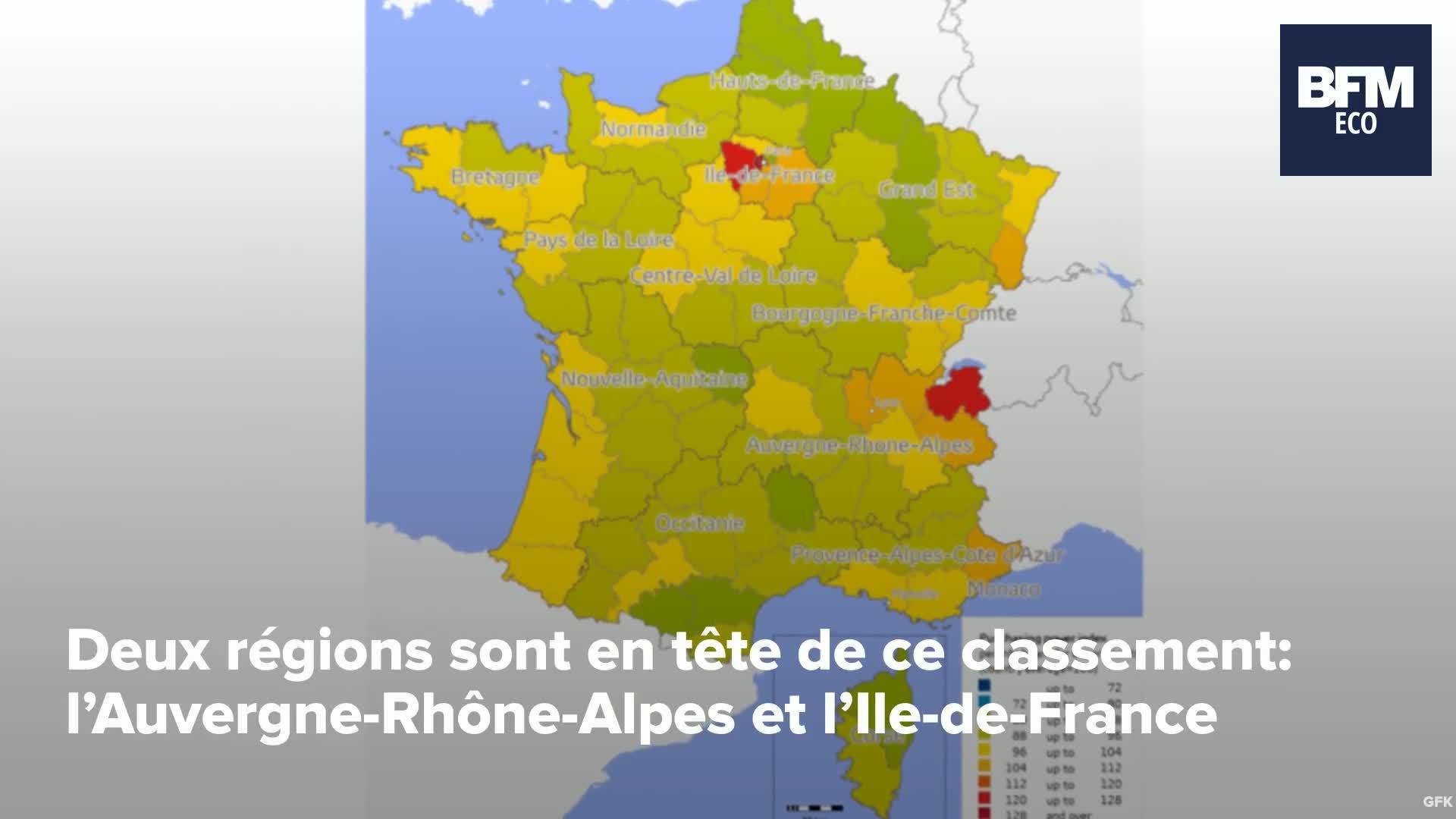 Quelles Sont Les 10 Villes Françaises Où Le Pouvoir D'achat Est Le Plus  Élevé? intérieur Acheter Carte De France