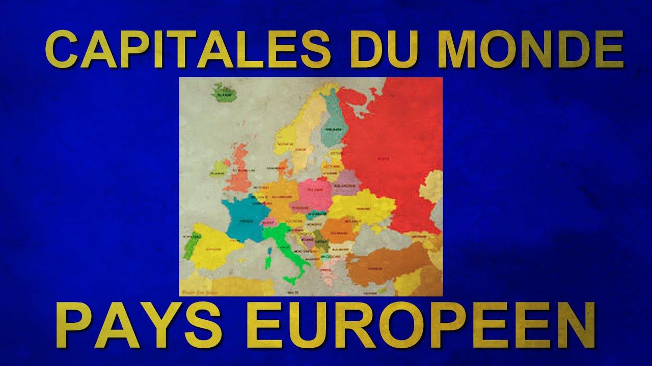 Quiz | Capitales Du Monde + Pays Européen concernant Quiz Sur Les Capitales De L Union Européenne