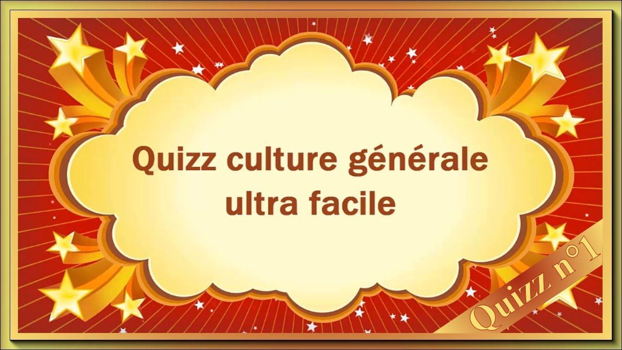 Quiz Culture Générale Ultra Facile - N°1 tout Jeu Culture Générale En Ligne